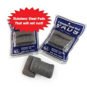 STAINLESS STEEL WOOL PADS